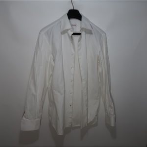White ISAIA Napoli Men Dress Shirt Sz 16 1/2 / 42